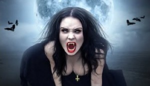 vampire_girl - femme_vampire_et_pleine_lune