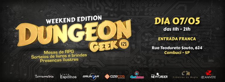 Venha jogar RPG com a Dungeon Geek em 7/05!