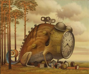 The Walking Lesson - Jacek Yerka